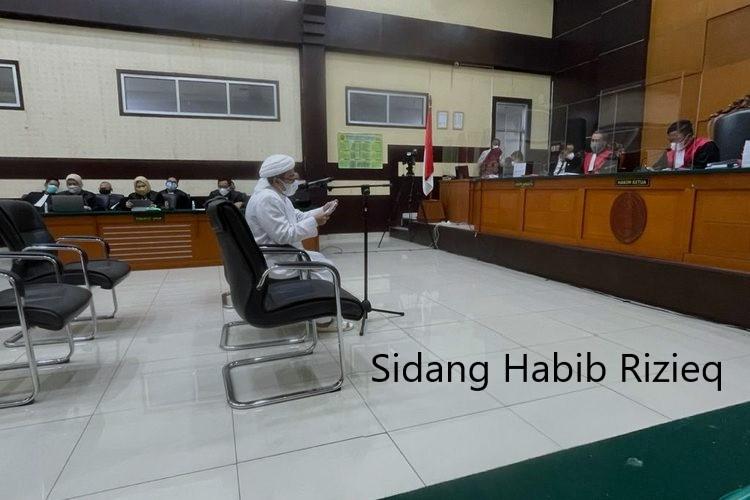 5 Orang Berkeliaran di PN Jaktim Saat Sidang Habib Rizieq Telah Diamankan